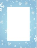 Blue Snowflake Frame with Text Field