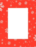 Christmas Snowflakes Specials Card