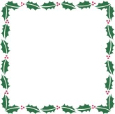 Square Designer Holly Frame