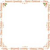 Blank Holiday Announcement Card