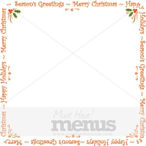 blank holiday announcement card christmas menu borders