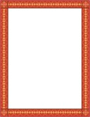 Red Geometric Border with Accents