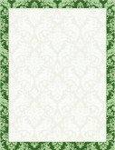 Green Repeating Floral Motif