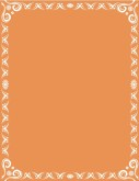 Orange Backdrop with White Pattern