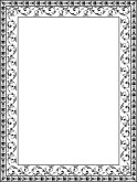 Black and White Ornate Floral frame