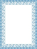 Blue Ornate Floral Frame