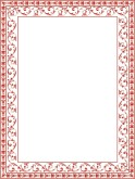 Red Ornate Floral Border frame