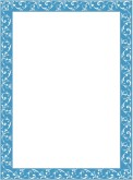 Simple Blue Floral Frame