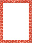 Simple Red Floral Frame