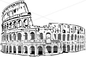 Roman Coliseum Clipart | Italian Food Clipart