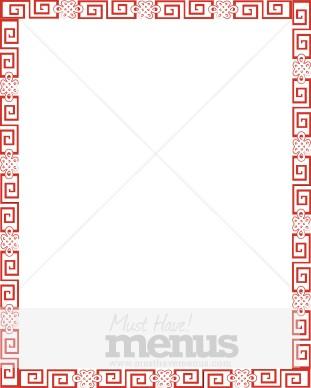 Red Chinese Theme | Menu Borders
