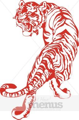 Tiger Clip Art Thai Menu Clipart