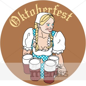 Octoberfest Girl Coaster