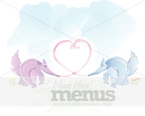 Anteaters In Love Valentine Image