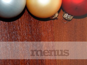 Woodgrain Holiday Ornament Top