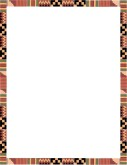 Kente cloth border