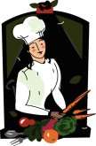 Female Chef Clipart