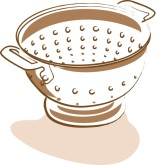 Berry Strainer Clipart