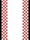 Red, Black and White Checked Border