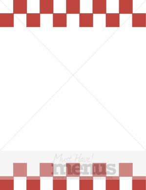 Checkerboard Squares Header Footer Menu Borders