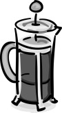French Press Coffee Clipart