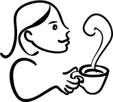 Cafe Girl Clipart