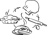 Pastry Chef Tools Clipart