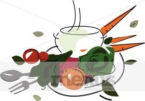 Vegetable Soup Clipart   Vegetable Clipart