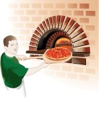 Baking Pizza Clipart