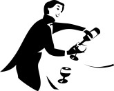 Waiter Pouring Wine Clipart