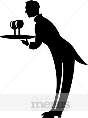 Formal Waiter Clipart  Waiter Clipart