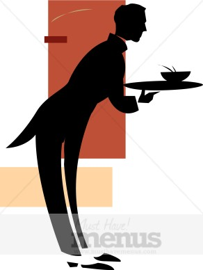 Food Waiter Clipart