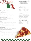Italian Flag Pizza Menu
