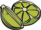 Cut Lime Clipart