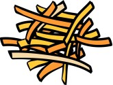 Sweet Potato Fries Clipart