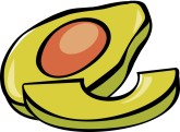 Fresh Avocado Clipart