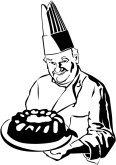 Professional Pastry Chef Clipart