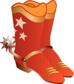 Orange Cowboy Boots Clipart