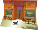 Cafe Storefront Clipart