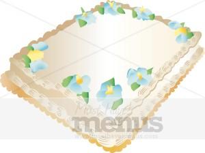 Sheet Cake Clipart Cake Clipart