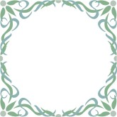 Arabesque in Blue Green Border