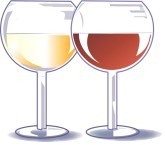 Wine Goblets Clipart