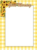 Yellow Gingham Sunflower Border