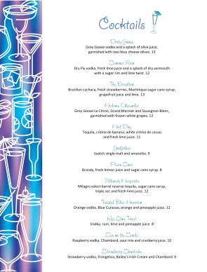 Cocktail Menu Template | Bar Menus