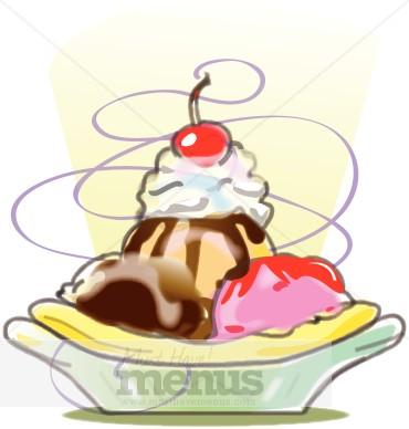 Banana Split Icon Ice Cream Clipart