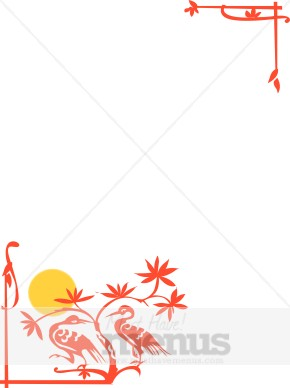 Asian Crane Border