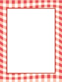 Red Gingham Border