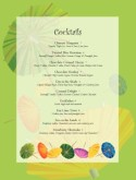 Cocktail Umbrella Specials Menu