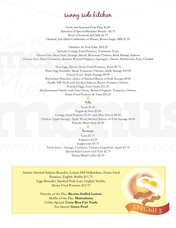 Breakfast Menu Template | Page 1