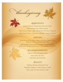 Autumn Breezes Menu